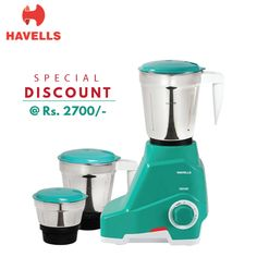 To Save Your Time As Your Life With Havells Genie 500W Mixer Grinder For Daily #Kitchen Work !! Visit: http://shopindeal.com/…/-Multi-Functionality-D…/594/Thergaon #electronicappliance #homeappliance #ShopINdeal