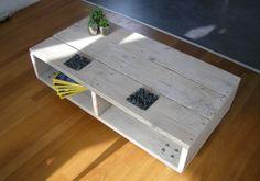 Salontafel van echt gebruikt steigerhout. Door Jeroensloophout