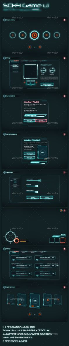 Sci-Fi Game UI - User Interfaces Game Assets