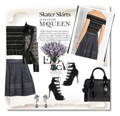 """Skater skirt from Alexander Mcqueen"" by citychiclifestyle ❤ liked on Polyvore featuring Alexander McQueen, AlexanderMcQueen and skaterSkirts"