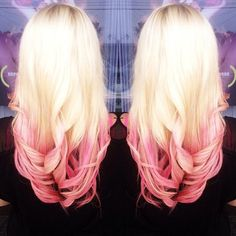 2015 Top 6 Ombre Hair Color Ideas for Blonde Girls Buy & DIY. In recent few seasons, Ombre hair color is no doubt becoming more popular. It obviously has been the Nouveau Chic of many hair designers, frequently seen in fashionREAD Pink Ombre Hair, Pastel Pink Hair, Blonde Ombre, Hair Colorful, Blonde With Pink, Bright Blonde, Gorgeous Hair, Beautiful, Gold Hair