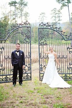 The gates, and our wonderful couple  Photo by Whitney Huynn