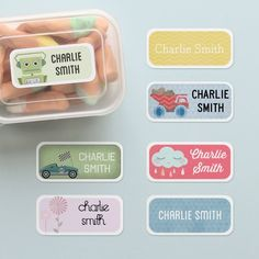 Kids Name Labels Mix