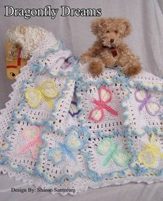 I love this blanket from Etsy....Dragonfly Dreams Crochet Baby Afghan or Blanket Pattern PDF