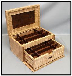 Curly Maple & Walnut Jewelry Box