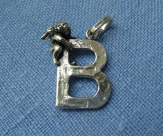 Giovanni Raspini Italy 925 Silver Alphabet Angel 'B' Charm Pendant #GiovanniRaspini #Pendant