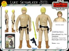 Brown Hair Variations, Figuras Star Wars, Star Wars Merchandise, Original Trilogy, The Empire Strikes Back, Star Wars Action Figures, Star Wars Toys, Luke Skywalker, Gi Joe
