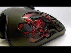 "Disciplined1Designs - ""3D Flames & Skulls Tank"" - YouTube"