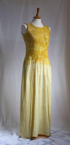 Hush. The Sun is Rising. Nunofelted Dress, OOAK. $242.00, via Etsy.