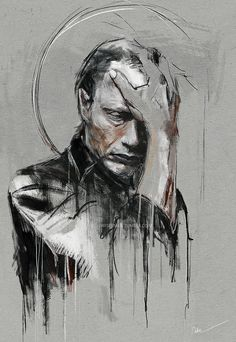 'Mono no aware' Poster by Wisesnail Hannibal Tv Show, Hannibal Series, Hannibal Lecter, Mono No Aware, Kintsugi, Mads Mikkelsen, Illustrations, Comic Character, All Art