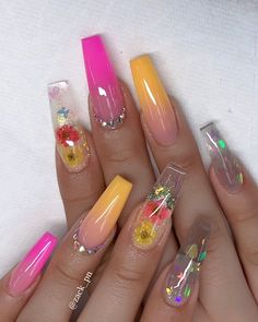 60 Prettiest And Stylish Summer Nail Designs – nail art designs, colorful nail a… – Beauty ideas Summer Acrylic Nails, Best Acrylic Nails, Cute Acrylic Nails, Acrylic Nail Designs, Summer Nails, Nail Art Designs, Nails Design, Spring Nails, Dope Nails