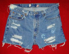 Acid wash Distressed levi 505 Jean Shorts GREAT by Foreverpeace, $12.99