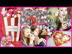DIY VALENTINES DAY PARTY - GIRLS NIGHT! - YouTube