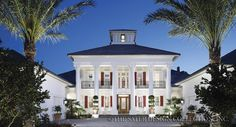 """""""Camellia Manor"""" was The New American Home™ of 2008. It fuses a traditional Antebellum styled home plan with state-of-the-art technology l Sater Design Collection l Luxury House Plans"""