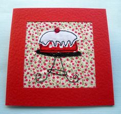 Gift card  stitched card  greeting card  birthday by itsaMessyNest, £4.25