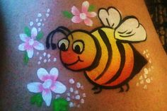 Dressed Up Dauber Bumble Bee Face Painting