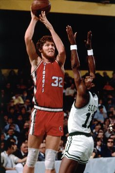 Bill Walton / achieved superstardom playing for John Wooden's powerhouse UCLA Bruins in the early '70s, winning three straight College Player of the Year Awards, while leading the Bruins to two Division I national titles. He then went on to win the NBA Most Valuable Player and two NBA championships with Portland and Boston.   In the 76-77 season Walton led the NBA in both rebounds per game and blocked shots per game.  He is a Hall of Famer.
