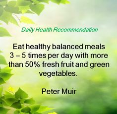 Health Daily Recommendation