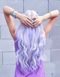 For those wild-days: non-committal hair chalk! Or you know, bleach your hair white and then mix dye with conditioner to get a lovely lavender.  This hair color is divine. Absolutely divine.