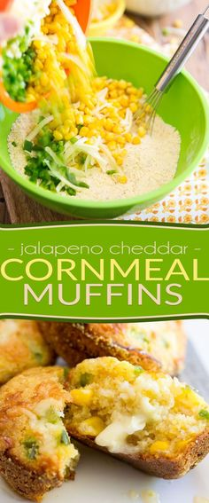 So tasty and delicious, moist and tender, you won't believe how good for you these Jalapeno Cheddar Cornmeal Muffins actually are! Cornmeal Recipes, Healthy Bread Recipes, Jalapeno Recipes, Healthy Recepies, Uber Food, Jalapeno Cheddar, Jalapeno Corn, Buttered Corn, Cabbage Soup Recipes