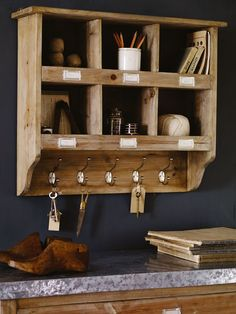 Wooden Box Unit with Hooks NEW #coxandcox