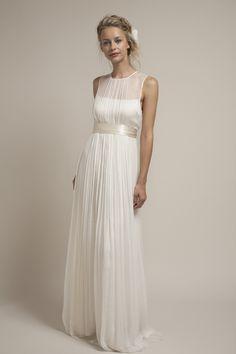 Charmeuse and Chiffon Wedding Dress