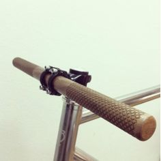 Laser engraved walnut bicycle handlebar made by laser cut studio in Helsinki.  - Oh please.....