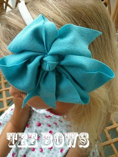 Tee Bows Large TShirt Hair Bows for Girls Aqua 5 1/2 by TeeBows, $8.00