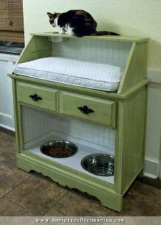 Baby Changing table and a pet food/water table