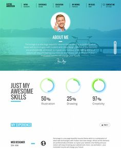 highclass portfolio parallax wordpress template one page pro is a - Wordpress Resume Template