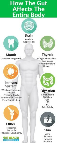 The Gut Affects The Entire Body! Click To See 8 Common Health Issues By An Unhealthy Gut | http://guthealthproject.com/8-common-health-issues-caused-by-an-unhealthy-gut/