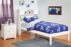Found it at Wayfair - Atlantic Furniture Urban Lifestyle Newport Bookcase Bed Bookcase Bed, Headboard With Shelves, Bed Frame And Headboard, Bed Frames, Bed Furniture, Furniture Making, Children Furniture, Painted Furniture, Wood Bunk Beds