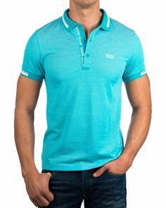 Turquoise - Hugo Boss © Polo Shirts - Paule | BEST PRICE