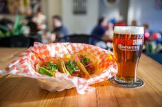Mad Mexican Taco House  Trio of Tacos with pint of Amsterdam Boneshaker  405 Jane St Toronto  visit madmexican.ca Taco House, Mexican Tacos, Brewery, Amsterdam, Toronto, Waffles, Mad, Breakfast, Morning Coffee