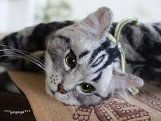 Stunning.... hard to believe this is not a real cat!