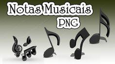 Notas Musicais 3D em Formato Png #1 | Bait69blogspot