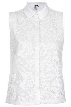 Flower Lace Shirt (Top Moda Noche)