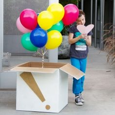 ballons in a box
