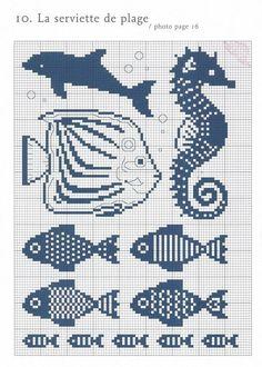 Fish cross stitch pattern