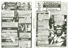 Arsenal Sommaire Poitiers #12, Newsletter mensuelle, Poitiers / Régions, AMP, Didier, PIer, Marie, Fabrice.