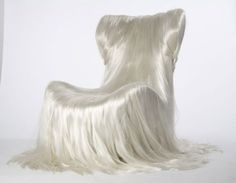 Will the Hair Art Trend Never End? Unusual Furniture, Cool Furniture, Furniture Design, Funny Furniture, Muebles Art Deco, Living Room Murals, Wallpaper Magazine, Take A Seat, Sculpture