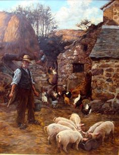 Farmer's Pride (Stanhope Alexander Forbes, c. British Schools, Antiques Roadshow, Ghost Ship, Irish Art, Country Scenes, Great Paintings, Old English, Figure Painting, Country Life