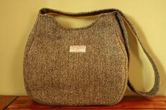 Want.     Harris Tweed  Grey Herringbone Oat Bag  Shoulder by Ten10Creations. , via Etsy.