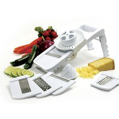 Easily slice, grate and juice with this Mandoline Grater!