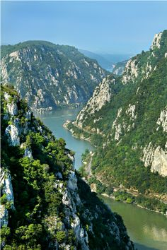 Romania - Danube river crossing the Carpathian Mountains