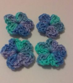 Embellishments / Appliques / Supplies / Crocheted Flowers / by GrammaLeas on…