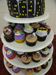 Batman cupcakes!