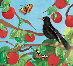 I'm working on a new series of kids sticker books for the National Trust. Here's a sneak corner of the cover for the book on trees, out early 2015!