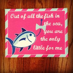 Big/Little Canvas for my future little! Out of all the fish in the sea, you're the only little for me Delta Phi Epsilon, Alpha Omicron Pi, Kappa Kappa Gamma, Zeta Tau Alpha, Tri Delta, Phi Mu, Delta Zeta Canvas, Sorority Canvas, Sorority Life