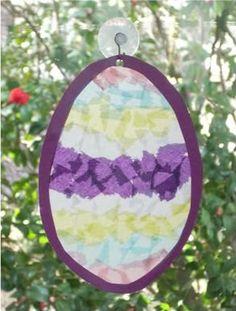 Egg-Shaped Suncatcher for Easter